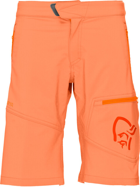 Norrøna Junior /29 Flex1 Shorts Orange Alert